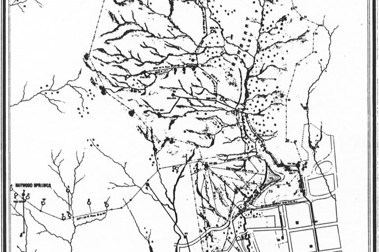 Map of Strawberry Valley and Vicinity (1875)