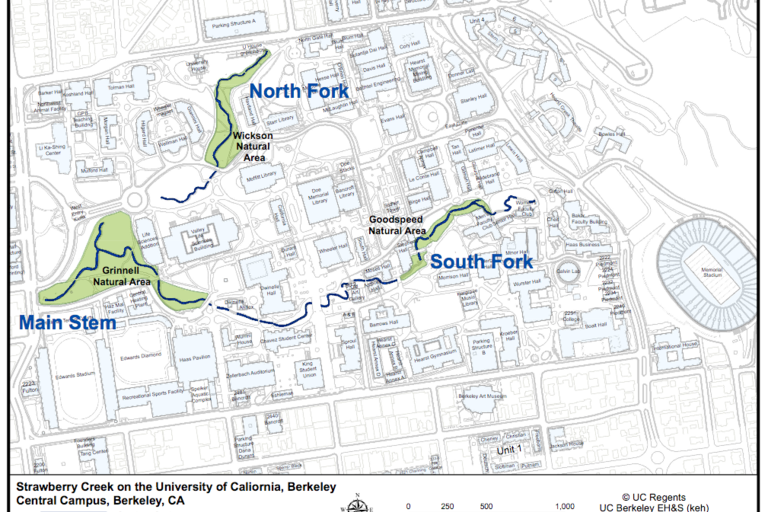 Strawberry Creek Map - Natural Areas on the Central Campus